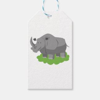 animal in green garden gift tags