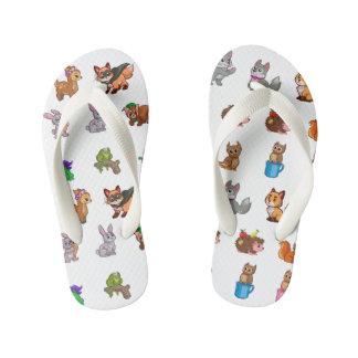 Animal Kid's Flip Flops