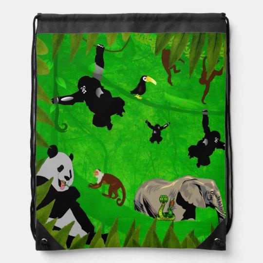 Animal Kingdom Drawstring Backpack