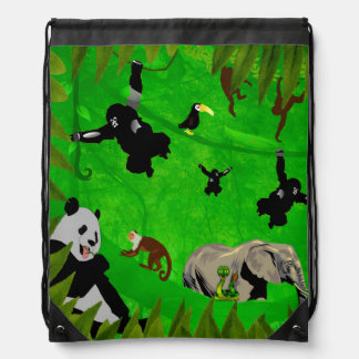 Animal Kingdom Drawstring Bag