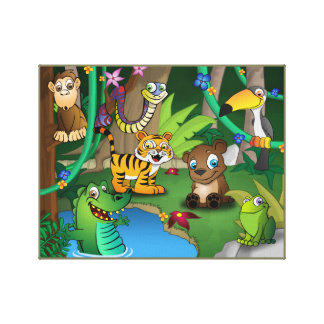 Animal kingdom Jungle Canvas Print