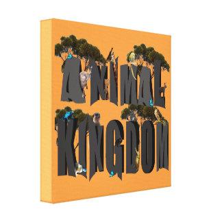 Animal Kingdom Logo With Animals, Canvas Print