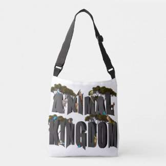 Animal Kingdom Logo With Animals, Crossbody Bag