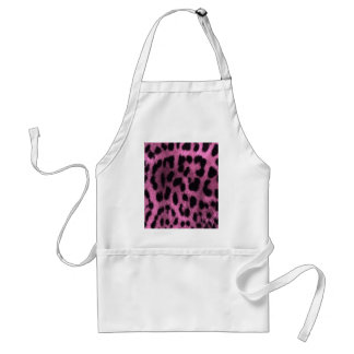 Animal leopard print - pink standard apron