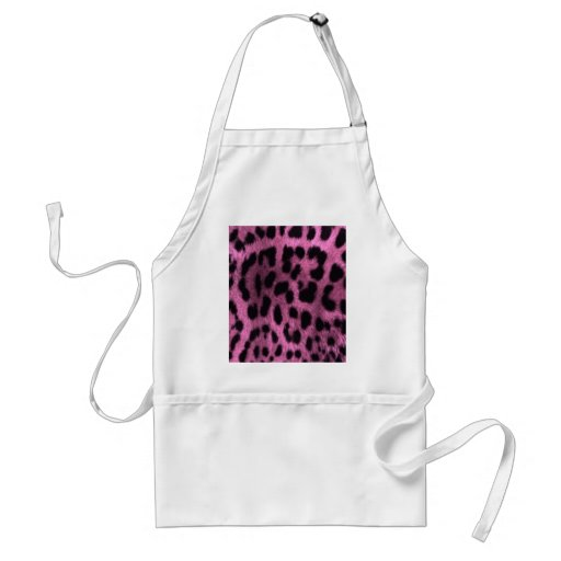 Animal leopard print - pink apron