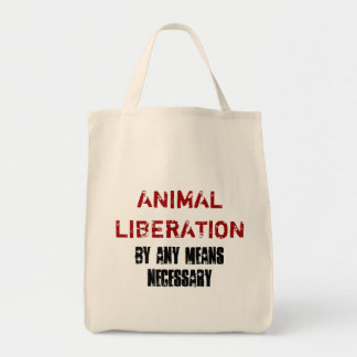 ANIMAL LIBERATION BY ANY MEANS NECESSARY TOTE