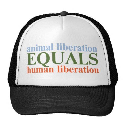 Animal Liberation Equals Human Liberation Trucker Hats