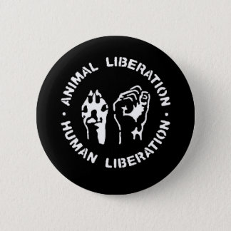 Animal Liberation Human Liberation 2 Inch Round Button