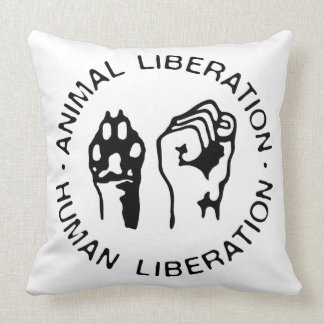 Animal Liberation Human Liberation Throw Pillow