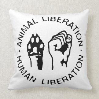 Animal Liberation Human Liberation Throw Pillows