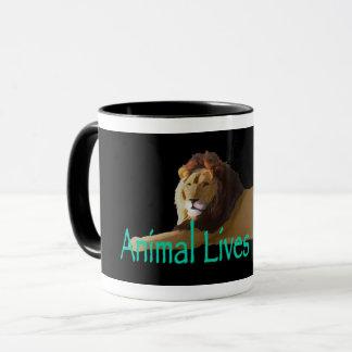 """Animal Lives Matter"" Lion Mug"