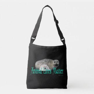 """Animal Lives Matter"" Seals Cross Body Bag"
