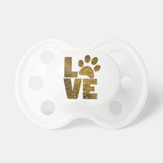 Animal Love Cat Paw Print Pacifier