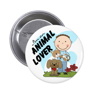 Animal Lover Boy T-shirts and Gifts Pins