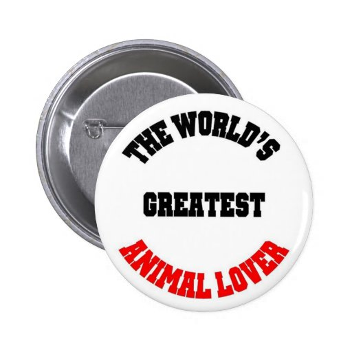 Animal Lover Pinback Buttons