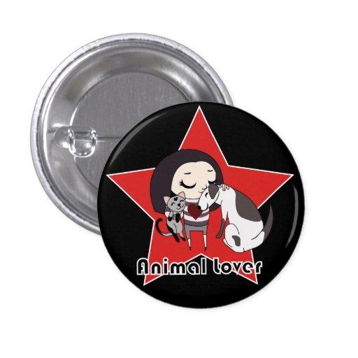Animal Lover Button