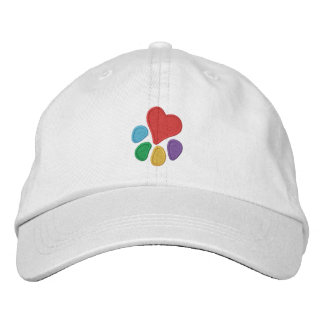 Animal Lover_Heart-Paw Embroidered Hat