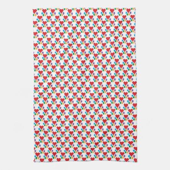 Animal Lover_Heart-Paw_Little Hearts pattern Towels
