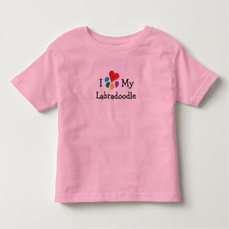 Animal Lover_I Heart My Labradoodle T Shirts
