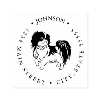 Animal Lover | Japanese Chin Toy Dog Return Label Self-inking Stamp