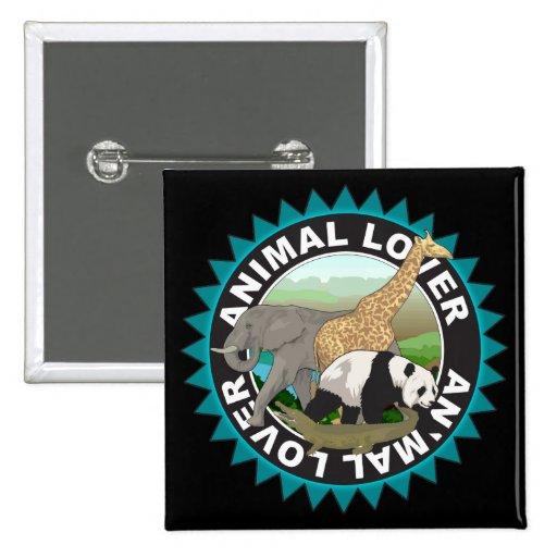 Animal Lover Logo Pinback Button