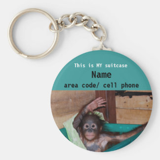 Animal Lover suitcase ID tag Basic Round Button Keychain