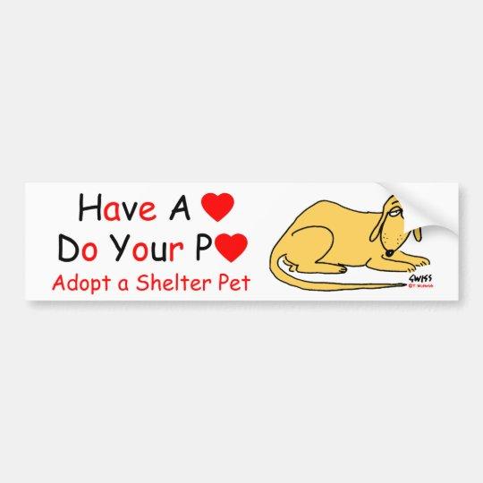 Animal Lover's Message Bumper Sticker