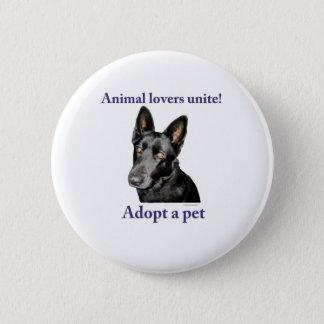 Animal Lovers Unite! 2 Inch Round Button