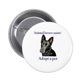 Animal Lovers Unite! Buttons