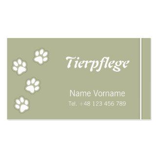 animal-maintains business card