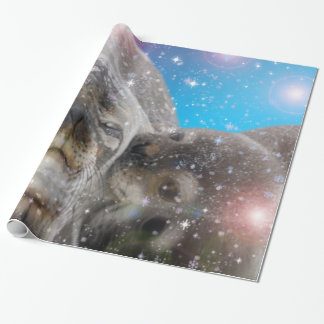animal,Mother and baby seal Wrapping Paper