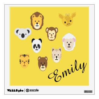 Animal Nursery Unisex Monkey Panda Bear Koala Lion Wall Decal