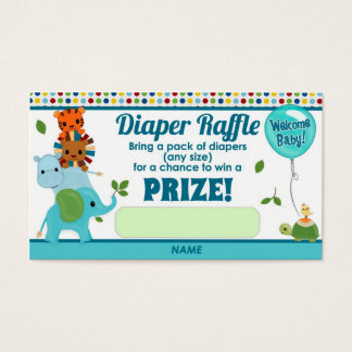 Animal Parade Baby Shower DIAPER RAFFLE TICKETS