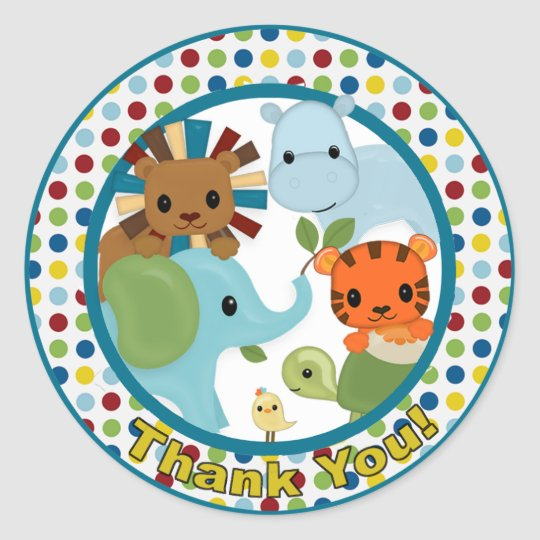 Animal Parade Baby Shower sticker APK#8 Thank You