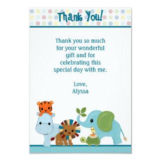 "Animal Parade jungle Thank You 3.5""x5"" APK (FLAT) 3.5"" X 5"" Invitation Card"