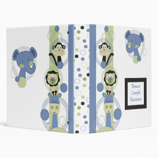 Animal Park Baby Photo Album Personalized 3 Ring Binders