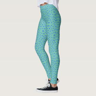 Animal Pattern#21a Designer Green Legging Pants
