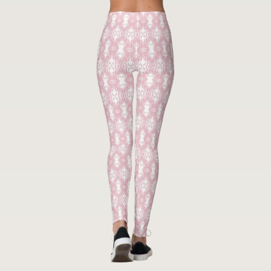 Animal Pattern#30 Designer Tights Legging White