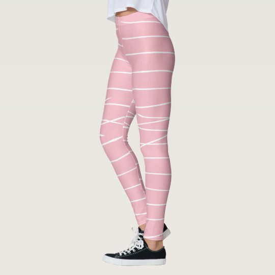 Animal Pattern#3 White Stripes Designer Legging