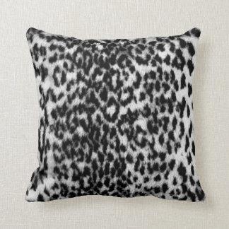Animal pattern, awesome, black, white throw pillow