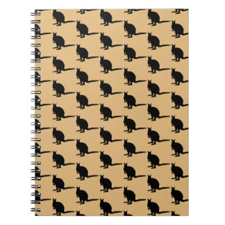 Animal Pattern. Wallaby Design in Brown and Black. Notebooks