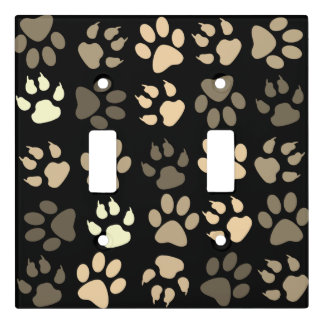 Animal paw pattern light switch cover