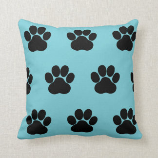 Animal Paw Print Puppy Pattern Throw Pillow