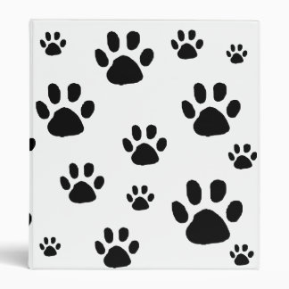 Animal Paw Prints Binder