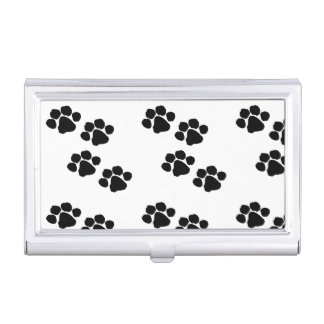 Animal Paw Prints Business Card Holder