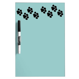 Animal Paw Prints Dry Erase Board