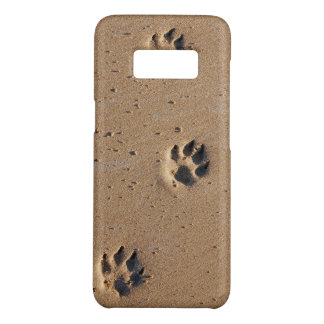 Animal paw prints in the sand Case-Mate samsung galaxy s8 case