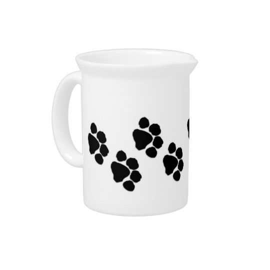 Animal Paw Prints Pitcher
