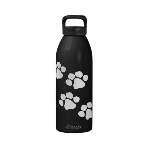 Animal Paw Prints Water Bottles