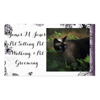 Animal Pet Sitting Cat Dog Business Office Care Business Card Template
